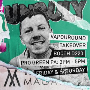 ALERT: Professor Green to take over the Vapouround stand at the Vaper Expo